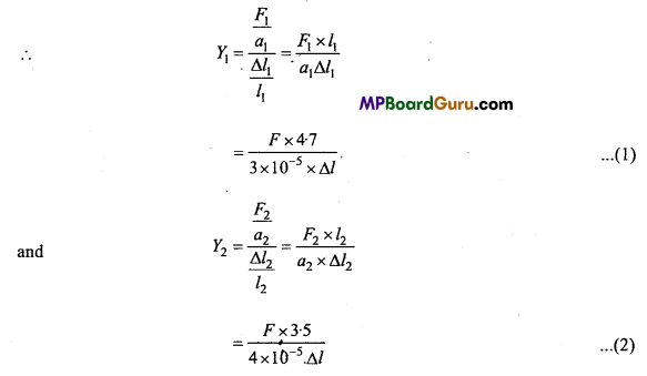 MP Board Class 11th Physics Important Questions Chapter 9 Mechanical Properties of Solids 10