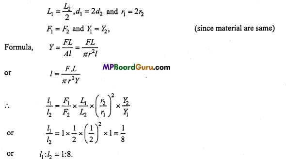 MP Board Class 11th Physics Important Questions Chapter 9 Mechanical Properties of Solids 13