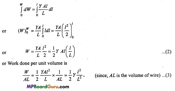 MP Board Class 11th Physics Important Questions Chapter 9 Mechanical Properties of Solids 9