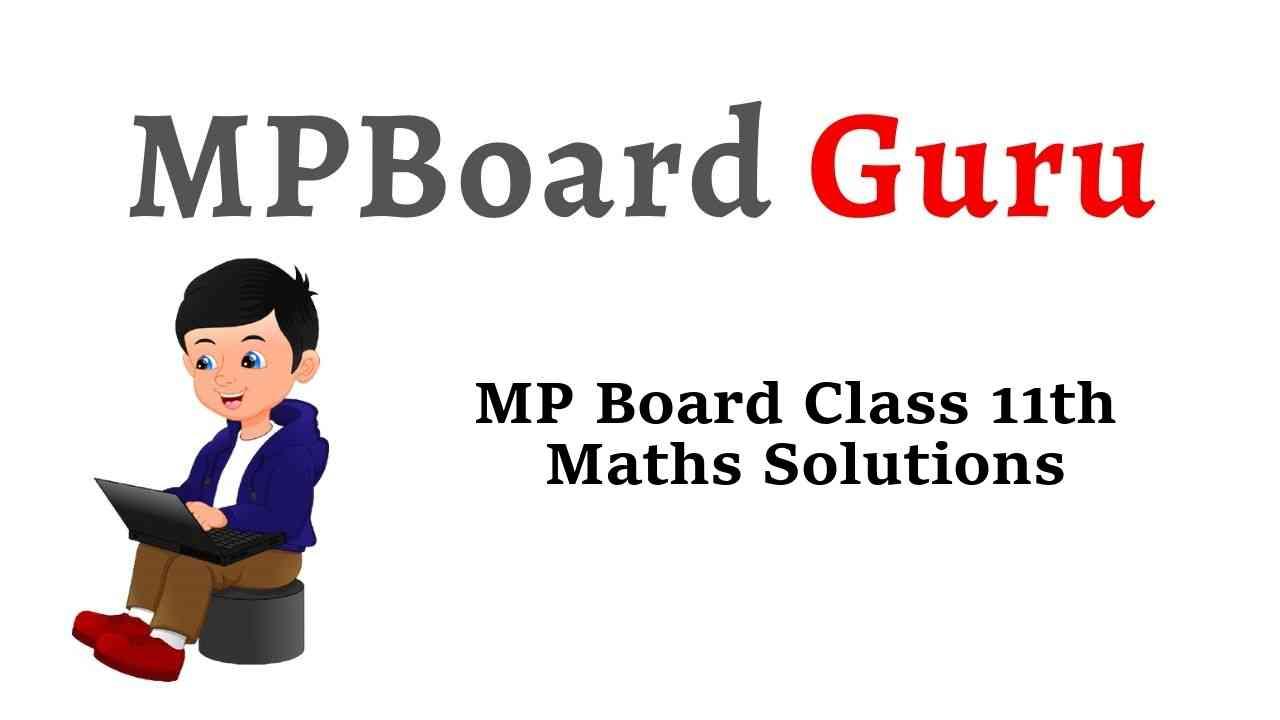 MP Board Class 11th Maths Solutions गणित