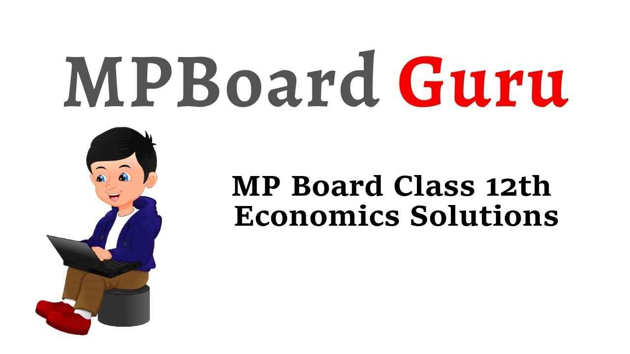 MP Board Class 12th Economics Important Questions with Answers